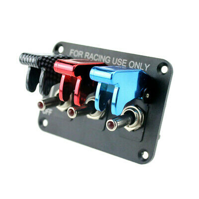 Racing Car Boat RV 12V 20A Ignition Engine Relay Toggle Switch Panel 3 Color