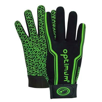 Optimum Sport Velocity Thermal Rugby Gloves Training Insulated Grip-Black/Green