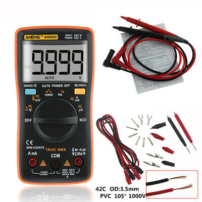 AN8009 Digital LCD Multimeter Voltmeter Ammeter AC/DC Volt Current Tester