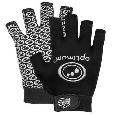 Optimum Sports Stik Mits Half Finger Elastic Wrist Rugby Gloves Black/White