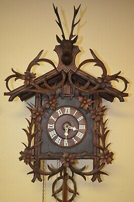 Antique German Black Forest G.h.s. Musical Cuckoo Clock 1800'S Rare!!!