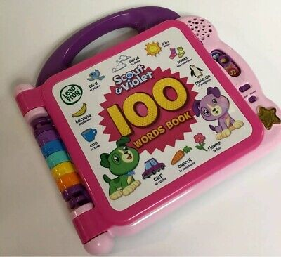 Amazon Exclusive LeapFrog Scout and Violet 100 Words Book Bilingual