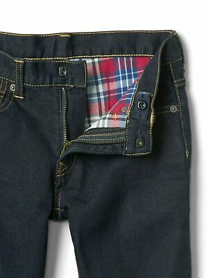 Boys` New GAP Flannel Lined Warm Winter Jeans Age 14 Dark Blue Authentic
