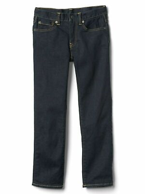 Boys` New GAP Flannel Lined Warm Winter Jeans Age 10 Dark Blue Authentic