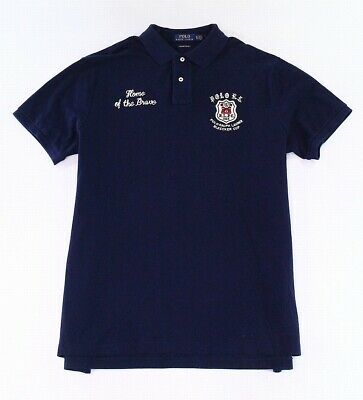 Polo Ralph Lauren Mens Shirt Blue Size Medium M Polo Embroidered $198 172
