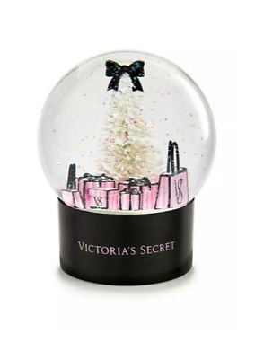 Victoria Secret 2019 Holiday Snow Globe Christmas Sparkle Glitter Pink Black New