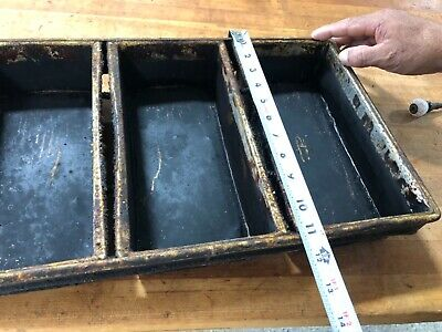 Chicago Metallic 92 -4 Strap Open Top Used Bread Baking Pans Lot Of 375!
