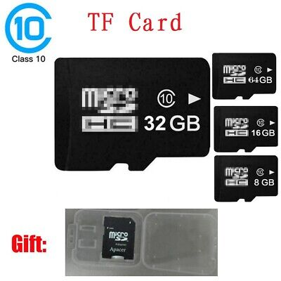 TF Card Class10 Flash Memory Card w/ Adapter For Camera Cell Phone LOT 32 64 GBB