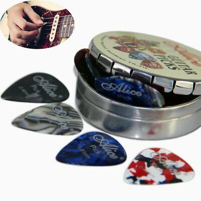 Alice Mix Thickness Acoustic Electric Guitar Picks Round Metal Picks Box