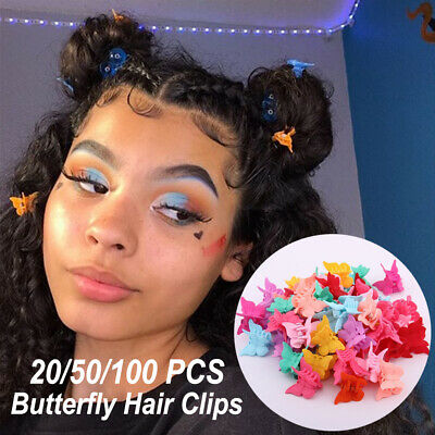 Girls Mixed Color Mini Hairpins Butterfly Hair Clips For Kids Baby Hair Claws