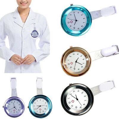 Nurse Watch Brooch Tunic Fob Watches Clip On Pocket Pendant Quartz Medical Gift