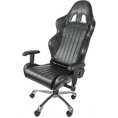 JEGS Performance 702151 High Back Gaming Racing Sport Office Chair Black