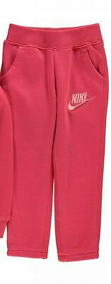 Nike Girls Club Fleece Joggers Tracksuit Bottoms Ages 5-6 Years BNWT Fusion Red