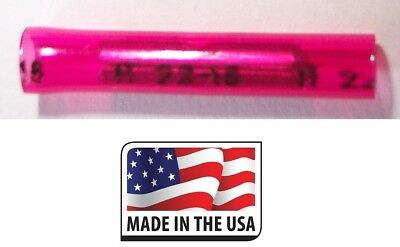 1000 Red Nylon Straight Butt Splice Terminal 18-22 AWG Gauge Made in USA 22-18