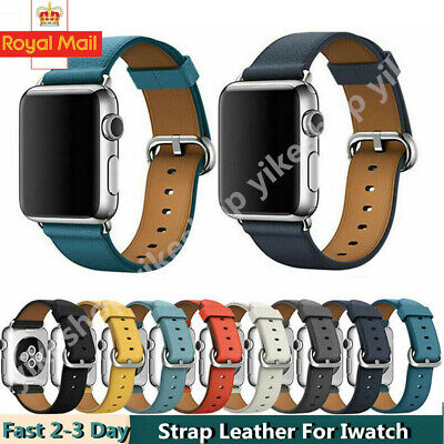 For Apple Watch Genuine Leather Strap iWatch Band 42/38mm Wristband Series 54321