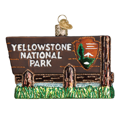 """""""Yellowstone National Park"""" (36173)X Old World Christmas Ornament w/Bx"""