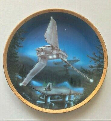 """STAR WARS Plate Hamilton Collection """"Imperial Shuttle"""" 1995 Ltd Ed"""