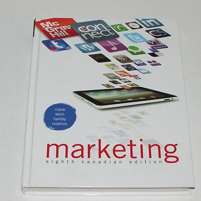 Marketing Eighth Canadian Edition Textbook Crane Kerin Hartley Rudelius Hc 2011