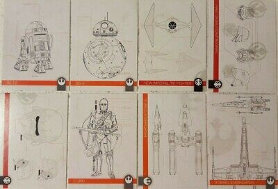 2019 Topps Star Wars Journey to Rise of Skywalker Trading Card SCHEMATICS Set 10