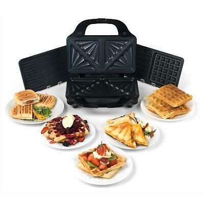 Salter EK2143 Deep Fill 3-in-1 Snack Maker with Waffle, Panini and Toasted