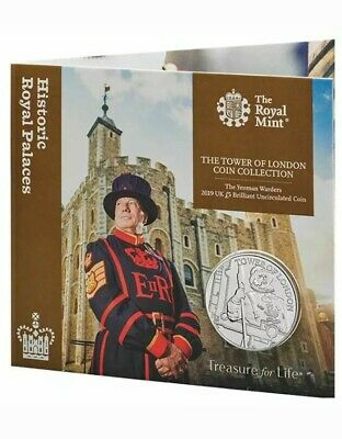 2019 The Yeoman Warders BU £5 The Tower Of London Coin Collection By Royal Mint