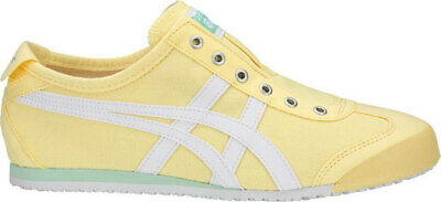 Womens Onitsuka Tiger Mexico 66 Yellow Slip On trainers Sneakers shoes Size UK