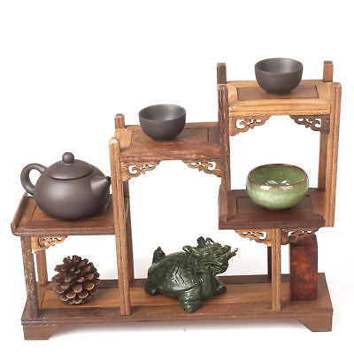 Old Boxwood Carving Used For Place Little Items Decorated Beautiful Big Shelf