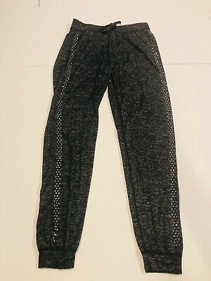 JUSTICE ACTIVE Girl's Gray Heather Drawstring Joggers Pants- Size 14/16- Ret $30