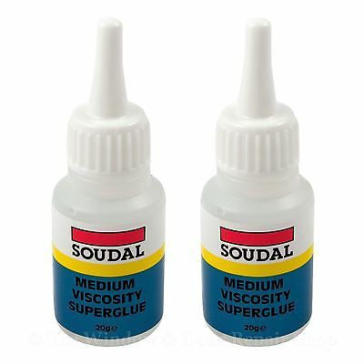 2-x-Soudal-Super-Glue-20g-Industrial-Strength-Adhesive-Extra-Strong-Wood-Metal-