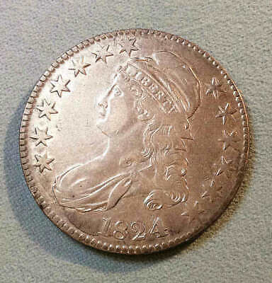 1824/4 Bust Half Dollar Sharp Nice-MAKE AN OFFER IT'S EZ