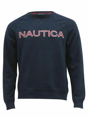NWT! Nautica Men's Fleece Long Sleeve Crew Neck Sweatshirt  *Free Shipping*