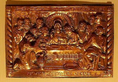 Last Supper in High-Relief Copper Repoussé (Pressed Metal)