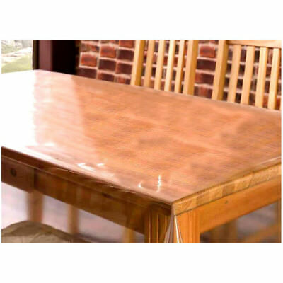 Clear Transparent PVC Tablecloth Table Protector Waterproof Covering Plastic