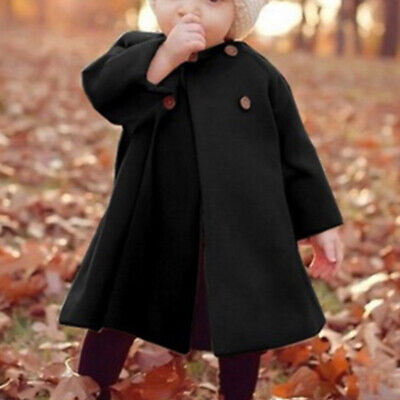 Kid Baby Girls Winter Warm Coat Cloak Jacket Top Thick Soft Outerwear Clothes
