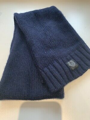 Belstaff Kids up to age 8 scarf navy blue wool mix worn twice