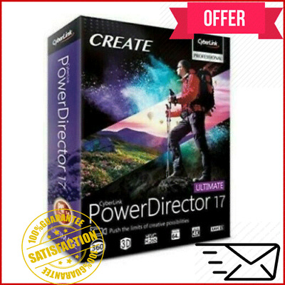 ⭐New Offer⭐CyberLink PowerDirector Ultimate 18⭐LifeTime-Windows⭐Fast Delivery⭐