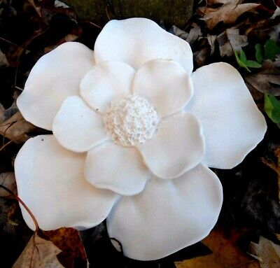 """Latex Magnoila flower mold plaster cement garden mould 5""""W x up to .75"""" thick"""