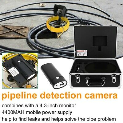 4.3in LCD Pipe Inspection HD Video Camera Drain Sewer DVR Endoscope Waterproof