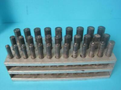 """2 SETS 33 PCS TRANSFER PUNCH 1//2/""""-1/"""" BY 64th"""