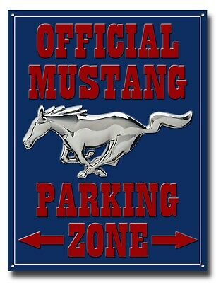 Ford Mustang Parking Only Metallschild Klassisch Muscle Auto, Pony USA