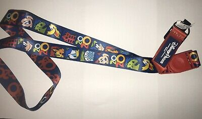 Disney Park Colorful 2020 Mickey And Friends Reversible Lanyard NEW
