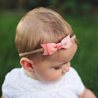 Baby Girls Toddler Ribbon Bow  HairBand Headband Headwear