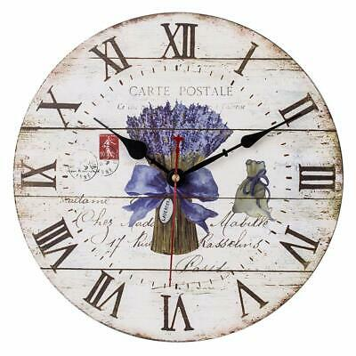 Vintage Wall Clock, Antique Clock With Roman Numerals, Silent Non Ticking Clock