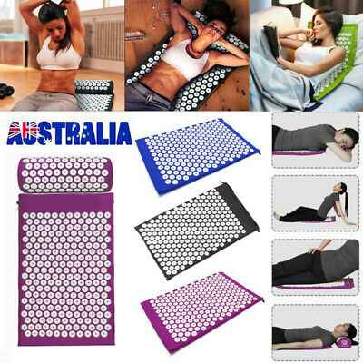 Massage Acupressure Yoga Mat With Pillow Sit Lying Mats Cut Pain Stress Soreness