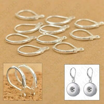 100Pcs 925 Sterling Silver Earring Hooks Beads For Jewelry Making Ear Wires Set✅