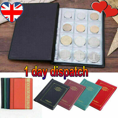 UK✅ 120 Album Coin Penny Storage Book Case Folder Holder Collection Collecting✅