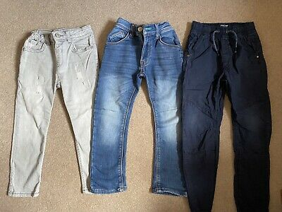 Next Soft Jersey Blue Jeans And Grey Skinny River Island Jeans Boy 4-5 Years/ 5