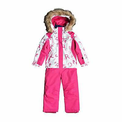 Roxy Paradise Suit Girls Jacket Snowsuit - Bright White School Day All Sizes