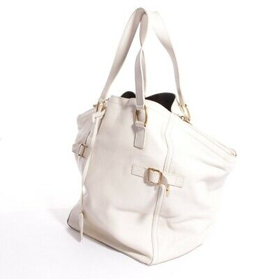 Yves Saint Laurent Borsa a Tracolla Bianco Crema Donna Downtown Totale