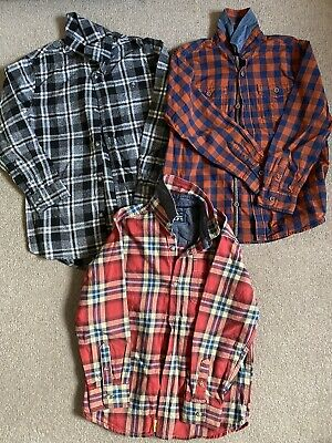 Next Bundle Of Gorgeous Boys Long Sleeve Checked Shirts 6-7 Years/ Age 7